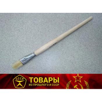 Кисточка плоская с деревянной ручкой шир.20 мм