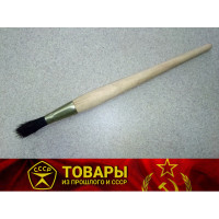 Кисточка круглая с деревянной ручкой шир.10 мм