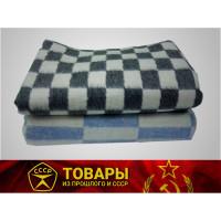 Одеяло байковое серое/голубое