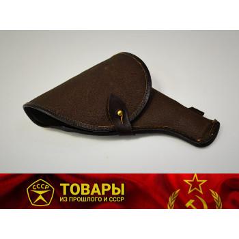 Кобура для револьвера Наган темно-коричневая кирза