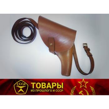 Кобура для револьвера Наган с плечевым ремнем (кожа)