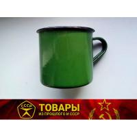 Кружка эмалированная зеленая 0,6 л